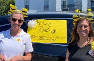 """AFCNS Staff Members Advocating to """"Bee Kind."""""""